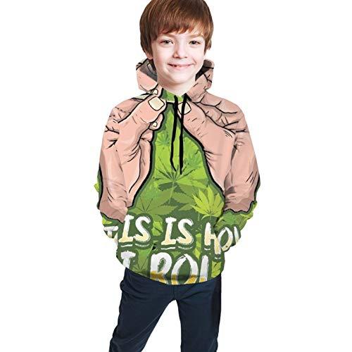 Xuepart This is How I Roll Jungen Kapuzenpullover Casual Print Sweatshirts Hoodies Pullover Unisex Hooded Sweatshirt Für Jungen Mädchen