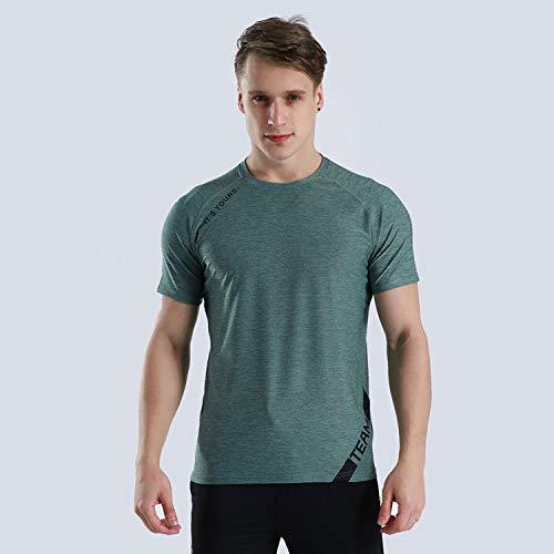 FDSHOSFH Secado Rápido Deportes Acuáticos,Camiseta Deportiva Transpirable de Running de Manga Corta y Camiseta de Secado rápido Casual-Green_XL