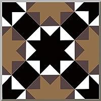 15ピース/セット8/12 / 15センチヨーロッパスタイルの床タイル斜めウォールステッカーバスルームキッチンウエストラインアート壁画ビニール壁デカール (Color : CZ0017, Size : 12CMX12CMX12PCS)