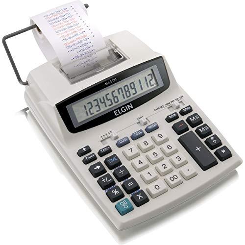 Calculadora compacta de mesa com 12 dígitos, calendário, relógio MA-5121, Elgin, 42MA51210000, Gelo