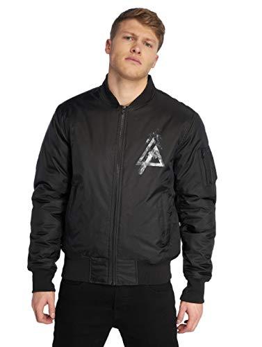MERCHCODE Herren Linkin Park Bomber Jacket Kapuzenpullover, Black, L