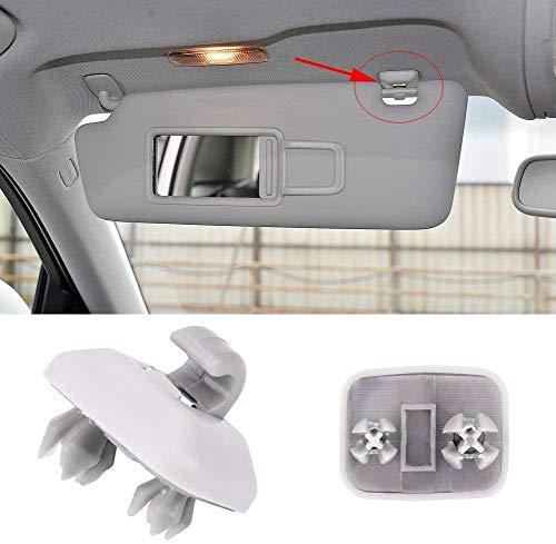 Clip del Gancho de la Visera del Coche, 2 piezas Enganches para viseras parasol, Clip Interior de la Visera del coche para A1 A3 S 3 A4 S4 A5 S5 Q3 Q5 TT Qua-ttro