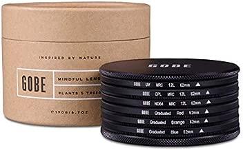 Gobe 62mm UV  Circular Polarizing  ND64  Red  Graduated Orange  Graduated Blue Lens Filter Kit  1Peak