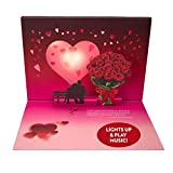 Pop Up & Light Up Valentines Day Card Plays Music from 'Unchained Melody' - Romantic Happy Valentines Day Gifts for Him & Her – Premium 3D Pop-Up Greeting Card Your Partner Will Love