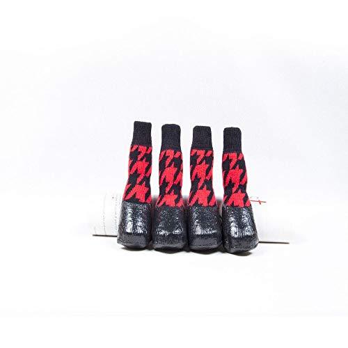 BXGZXYQ Calcetines para Perros, Antideslizantes, Impermeables, Perros, Zapatos, Calcetines, Labrador, Zapatos, Calcetines...