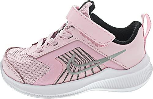Nike Downshifter 11 TDV, Zapatillas Deportivas Unisex niños, Pink Foam Mtlc Silver Black White, 18.5 EU