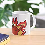 Flaming elmo/HELLMO. 11 Oz Premium Quality printed Coffee Mug, Comfortable To Hold, Unique Gifting ideas for Friend/coworker/loved ones