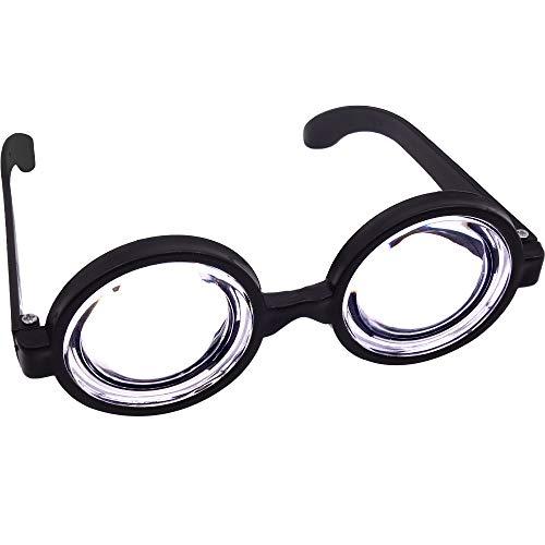 German Trendseller® Idioten Brille - Riesengroße Augen - Deluxe ┃ Party Brille ┃ Fasching - Karneval - Party ┃ Fette - Premium - Doof - Mann - Brille