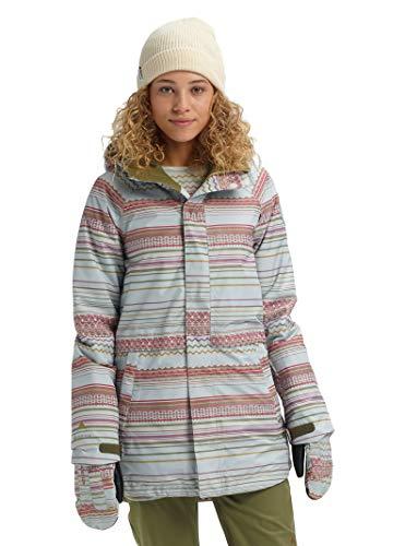 Burton Womens Gore-Tex Kaylo Jacket, Aqua Gray Revel Stripe, Medium