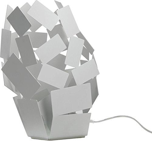 Alessi MT10la pièce du scirocco au crépuscule Lampe inoxydable 18/10, acier L 18cm, B 22cm, H 30cm Bianco