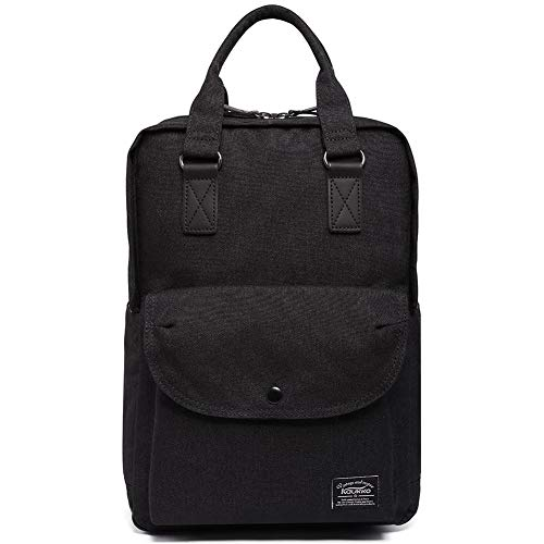 KAUKKO 12' Zaino Porta Pc Donna Universita, 15.35 Litri (Nero)