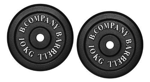 Bad Company Hantelscheiben aus Gusseisen I Gewichtsscheiben 30/31 mm für das Hanteltraining I 20 kg (2 x 10 kg)