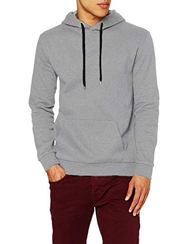 FM London Herren Regular Fit Kapuzenpullover Hyfresh Pullover, Grau (Grey 15), Large