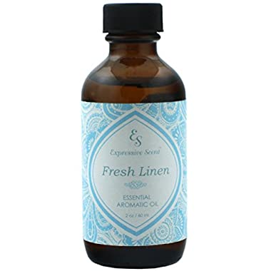 Expressive Scent Fresh Linen Scented Home Fragrance Essential Oil, 2 oz