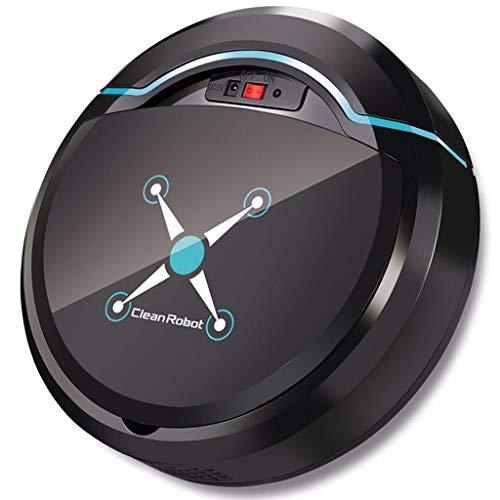 Vakuumroboter mit Wischfunktion Ultra dünn Staubsaugerroboter Wenig Lärm Staubsauger Intelligente Navigation Reinigungsroboter Fegende Roboter für harte Böden, Tierhaare, Teppiche, Hartholz, Fliesen