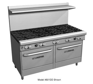"Southbend 4607AC-2CL 60"" Ultimate Restaurant Gas Range w/ 4 Pyromax Burners, 24"" Left Charbroiler, (1) Convection Oven & (1) Cabinet Base"