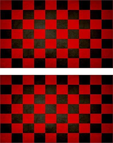 Akachafactory 2X Sticker Aufkleber Flaggen Flagge Fahne Vintage Racing Checkered r3