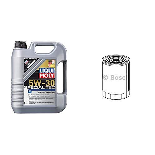 LIQUI MOLY 3853 Leichtlauf Special F Motoröl 5 W-30 5 L & Bosch F026407017 Ölfilter