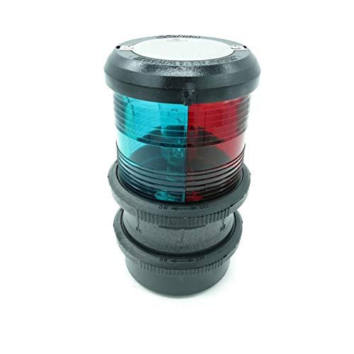 Aqua Signal Series 40 Feu de tête de mât à Fixation Rapide Tricolore Boîtier Noir