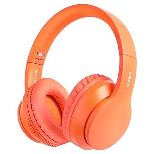 Cuffie Wireless, LOBKIN Cuffie Bluetooth 5.0 Wireless,cuffie over ear bluetooth,cuffie bluetooth bambina/bambino/adulto con microfono per tv,musica,pc,gaming