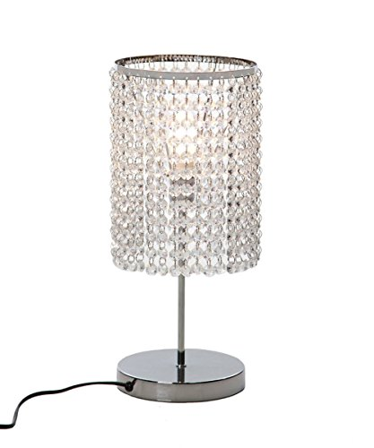 Dellemade Kristall Tischlampe Dekorative Nachttischlampe, Silbern