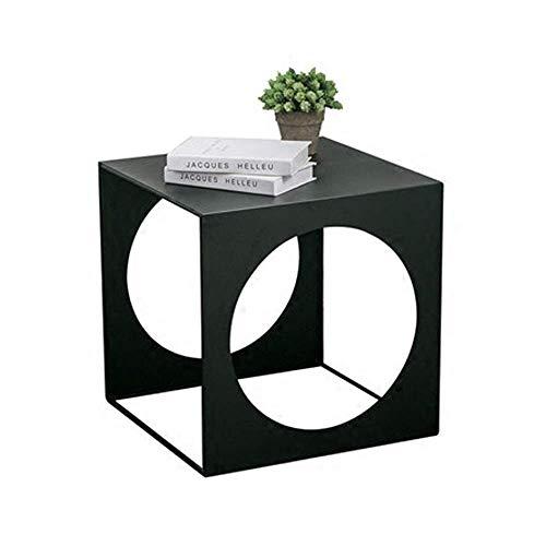 Cxcdxd Mesa de Centro pequeña Minimalista Creativa Hierro móvil Mesa de Centro pequeña Sofá Simple Lado de Metal Mini gabinete Lateral Mesa de Esquina, 45x45x45cm, 50x50x50cm Muebles de Sala (tamañ