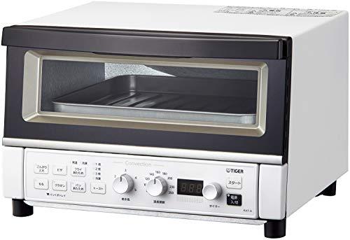 タイガー魔法瓶(TIGER) オーブントースター 温度調節機能 30分タイマー フライあたため トースト3枚 1300W マッドホワイト KAT-A130