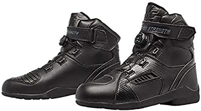 Speed and Strength Revolt Men's Street Motorcycle Boots - Black / 12 by Speed and Strength