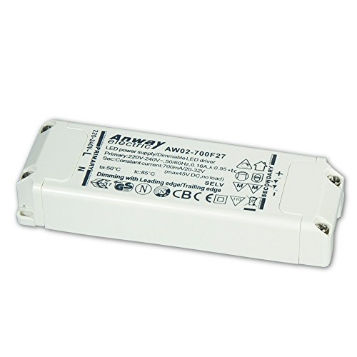 00011927 - ANWAY LED Treiber AW02-700F27 23W/700mA/20-32V