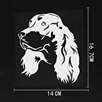 拓実-たくみ 琢磨 わたる 14CMX16.7CM興味深いゴードンセッター犬デカールビニール車ステッカーブラック/シルバー (Color Name : Silver)