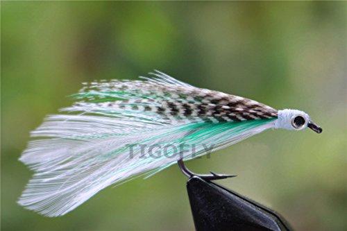 Tigofly 24 señuelos de pesca con mosca para salmón, trucha, agua salada