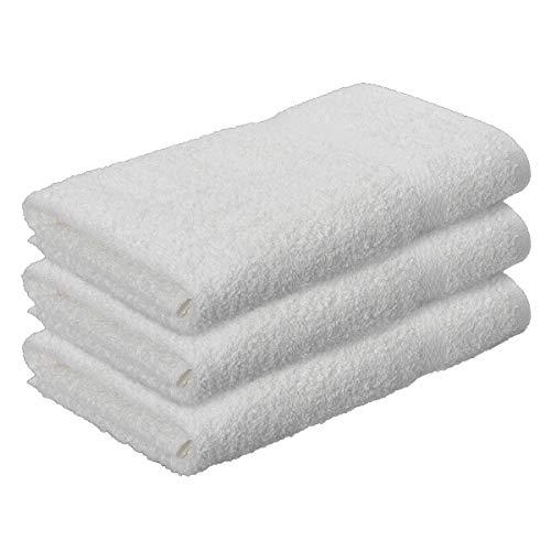 Toallas De Baño Grandes 100 X 150 Blancas Marca Frompt2y