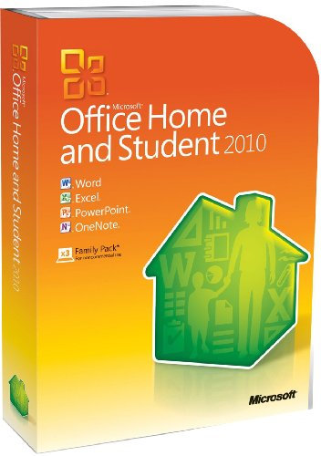 Microsoft Office 2010 Home and Student, 3 Users (PC DVD) [import anglais]