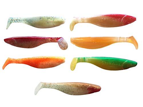 SANDAFishing Juego de peces de goma Kopyto River de 11 cm para pesca de lucioperca, perca, lucio, bacalao, mar, alta pesca en el norte oriental, lago (River)
