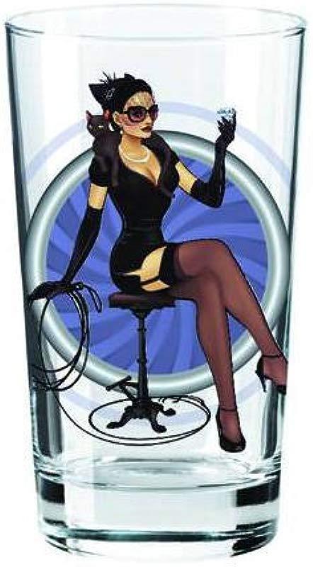 Catwoman DC Bombshell Series Toon Tumbler 16 Oz Pint Glass