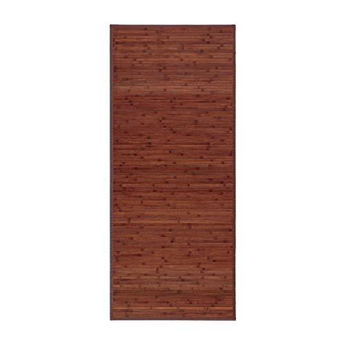 Alfombra pasillera Industrial marrón de bambú de 75 x 175