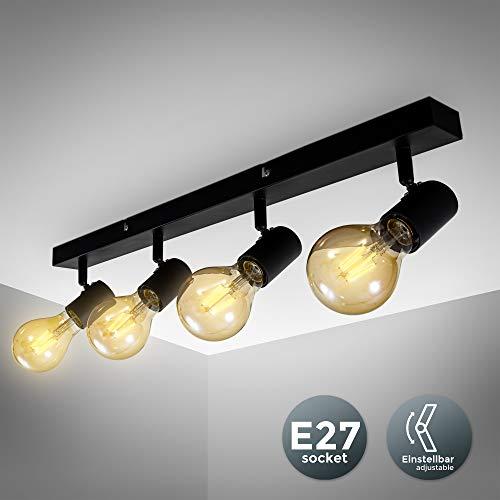 Vintage plafondlamp I retro plafondlamp excl. 3x max. 60W E27 lampen I plafondlamp in landelijke stijl I draaibaar
