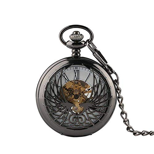 Taschenuhr Schwarz/Bronze Hohl Phoenix...