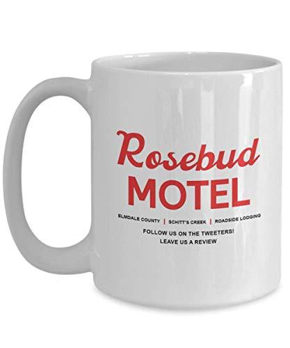 Jopath Rosebud Motel Taza de café, Shitts C Funny Unique Cote Actor Actr Gift Idea Inspirada en la serie de TV, blanco - 445 ml