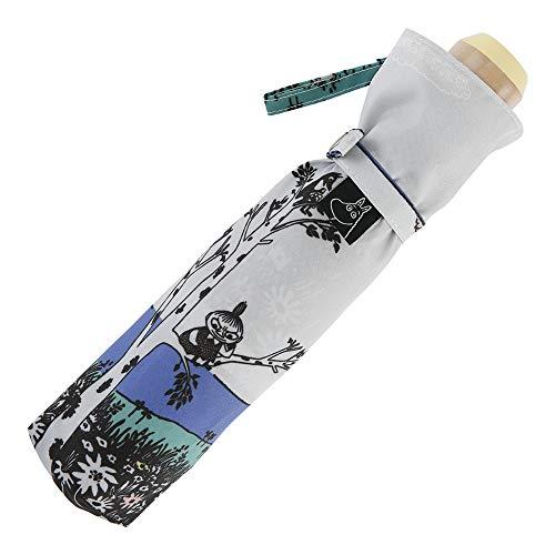 小川(Ogawa) 折りたたみ傘 雨晴兼用雨傘 手開き 55cm 5本骨 ムーミン ねころび UV加工 はっ水 85856