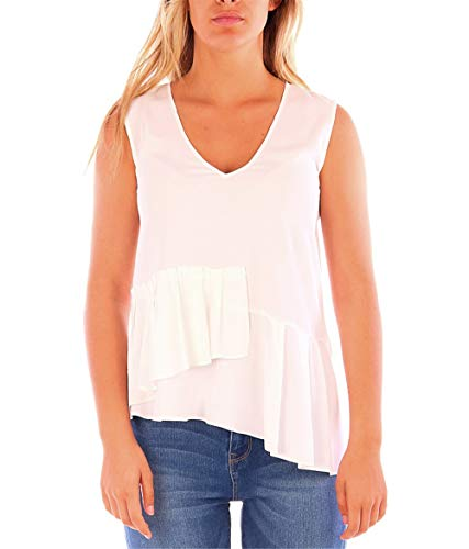 Caractere D265 Top Donna Bianco 40
