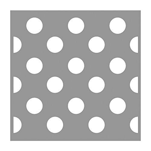 Rayher Schablone Polka Dots, Diverse, Grau 3.3 x 3.1 x 0.02 cm