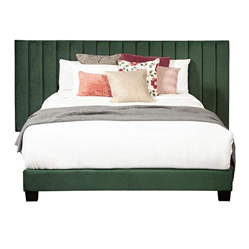 Great Deal! Home Fare King One Box Channeled Wall Bed-Emerald Green