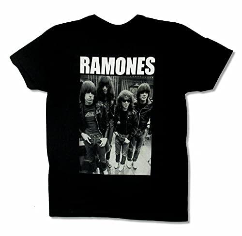 Ramones Band Lineup Black T Shirt New Punk Rock Band Black S