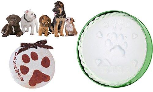 MWS Kit per Calco in Gesso per ricordo Impronte Zampa Cani e Gatti