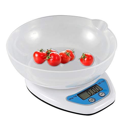 harupink Báscula Digital para Cocina Balanza de Alimentos Multifuncional Alta Precisión(5 kg-0.1g) Escala Electrónica con Pantalla Grande