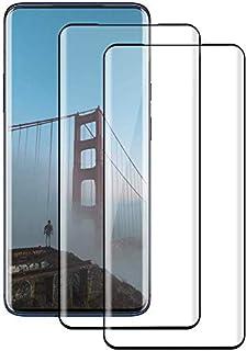 【2枚セット】OnePlus 7 Pro ガラスフィルム【2021先端技術】Oneplus 7 Pro 強化ガラス保護フィルム 9Dラウンドエッジ加工 全面保護ガラスフィルム 液晶 画面 滑らか 感度 良好 完全な表面保護 9H硬度 耐衝撃 指...