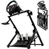 Minneer X PRO G923 Racing Wheel Stand Fit for Logitech Fanatec Thrustmaster, G25 G27 G29 G920 T300 T500 T300RS PS4 Xbox Solid Foldable Gaming Steering Simulator Cockpit. Wheel & Pedals Not Included