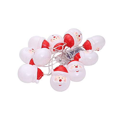 MKIU Christmas String Lights, Indoor Outdoor Warm White 10 Led 1.2m Christmas Decoration for Home Garden Patio Yard Christmas Tree Decoration