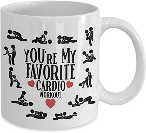 N\A Doing You Is My Favorite Cardio Workout Coffee Mug - Regalo Blanco para Novio, Novia, Pareja en cumpleaños de Navidad